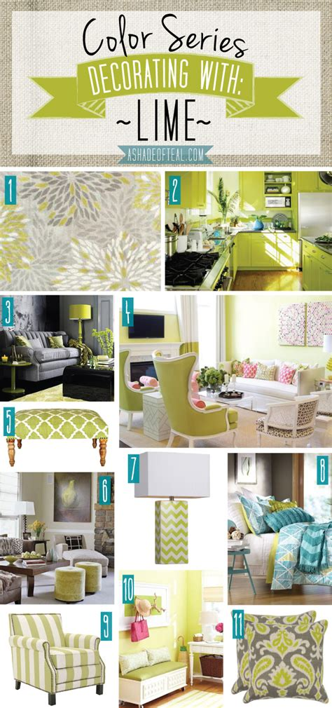 Home Decor By Color | color series decorating with lime