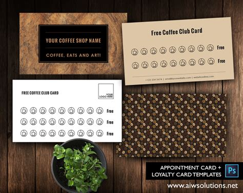 coffee club card template appointment loyalty gift cards aiwsolutions