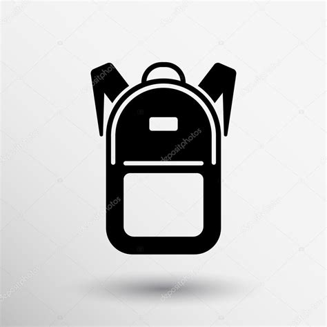 Sign Backpack backpack icon travel schoolbag study sign symbol graphic
