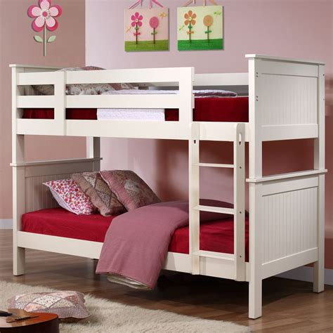 childrens wooden bunk beds murphy childrens wooden bunk bed with ladder white