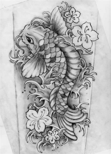 black and grey koi dragon tattoo 42 best pencil drawing koi fish tattoo images on pinterest