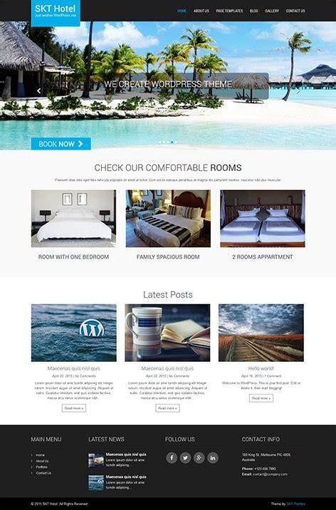 free hotel wordpress theme skt themes