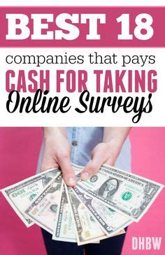 Surveys That Pay A Lot Of Money - take surveys and money on pinterest