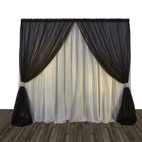 24 ft tall custom sheer drapes lined with blackout eclectic miami by maria j window economy 1 panel 2 tone curtain backdrop 2 4 m tall or 2 4