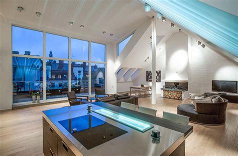 mansarde schlafzimmer umbau stylish attic penthouse in stockholm 4
