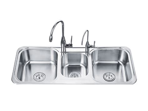 three basin kitchen sink 3 basin kitchen sink shop moen 22 in x 25 in stainless steel single basin drop in 3 commercial