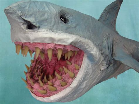 How To Make Paper Mache Animals - paper mache great bite shark gourmet paper mache