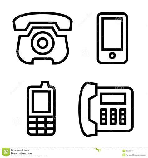 mobile pof phone icons set stock photo image 35596800