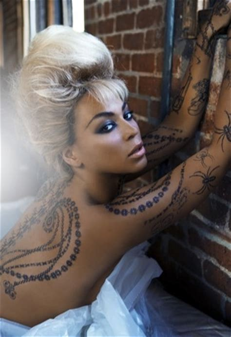 beyonce new temptu tattoo model