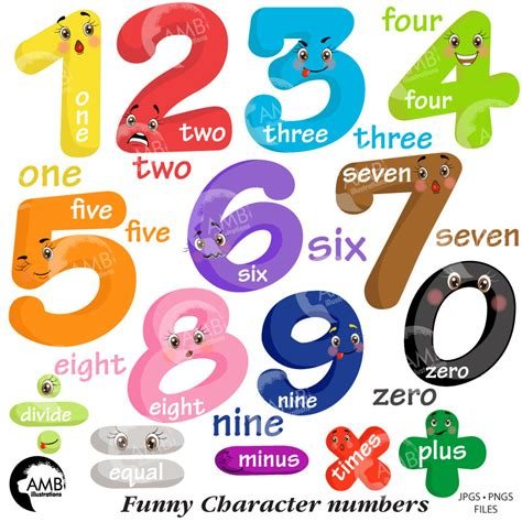 numbers clipart emoticon numbers clipart number faces counting numbers