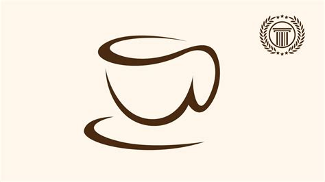 coffee shop logo design online coffee cup shop logo design illustrator how to make