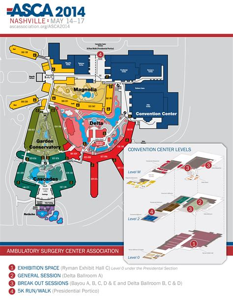 opryland hotel layout map exhibitor information asca 2014