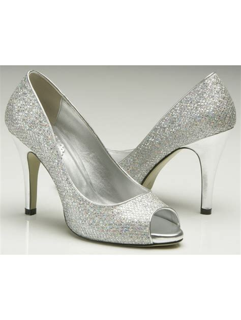 silver shoes pink by paradox 9 5cm heel sparkly silver glitter shoe silver