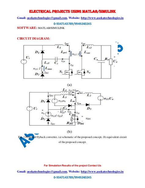 flyback diode frequency a high switching frequency flyback converter in resonant mode