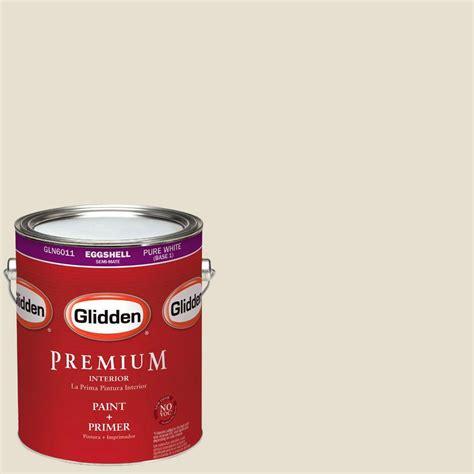 home depot paint eggshell finish glidden premium 1 gal hdgwn57 meeting house white