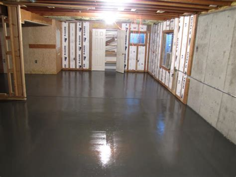 basement homes great basement floor paint planning and practicing