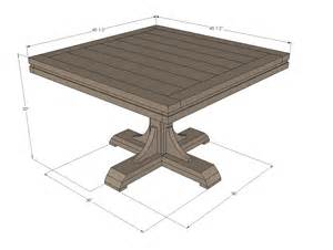 Dining Table Base Dimensions White Square Pedestal Table Diy Projects