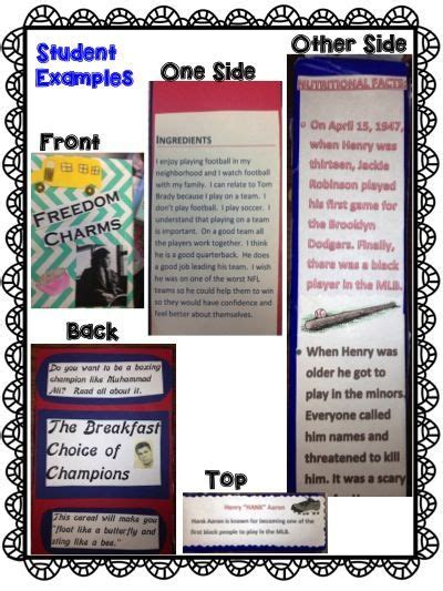 cereal book report student exles of a cereal box biography book report