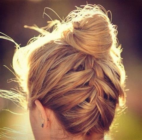 plate hair plate bun hair beauty pinterest