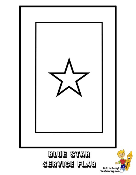 printable blue star banner fearless american flag coloring america flags free