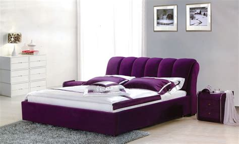 bedroom interior design purple bed