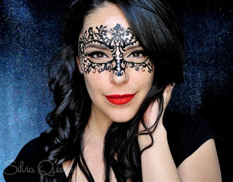lace mask face paint tutorial silvia quiros