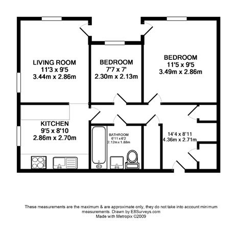 floor plan of a two bedroom flat ground floor unfurnished 2 bedroom apartment ox14 ref
