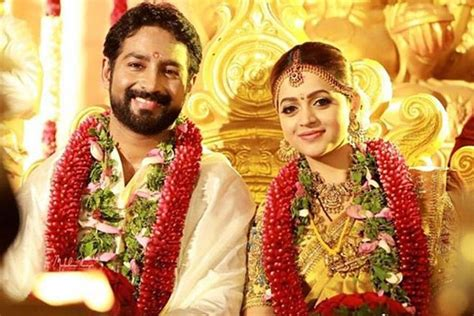 film actress marriage life bhavana marriage popular malayalam actress weds naveen in