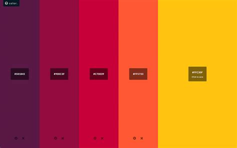 best red colors best color palette generators html color codes