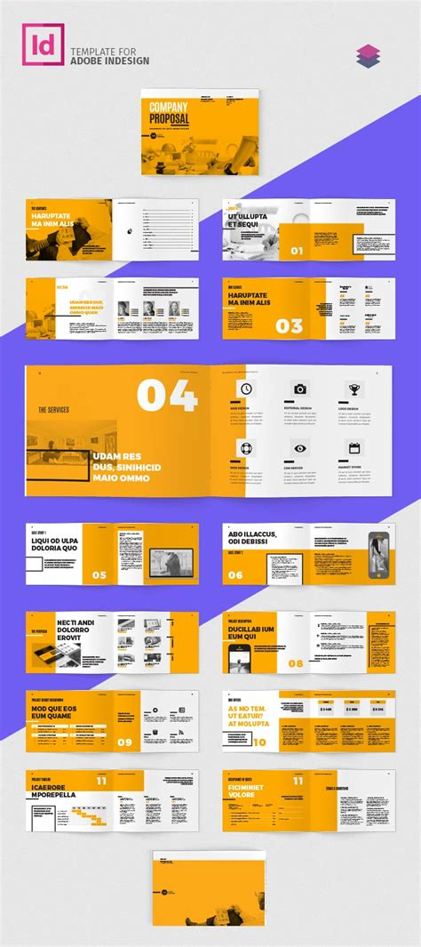 indesign layout landscape company proposal landscape template adobe indesign templates