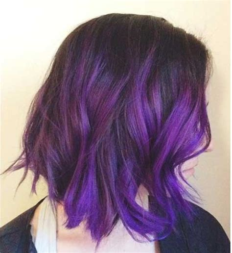 hair styles that are and layerd with purple die in it 35 bob hair cuts short hairstyles 2016 2017 most