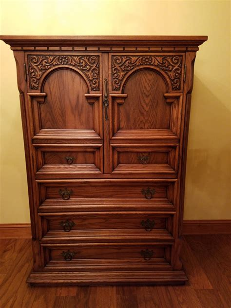 link taylor oak bedroom set  antique furniture collection