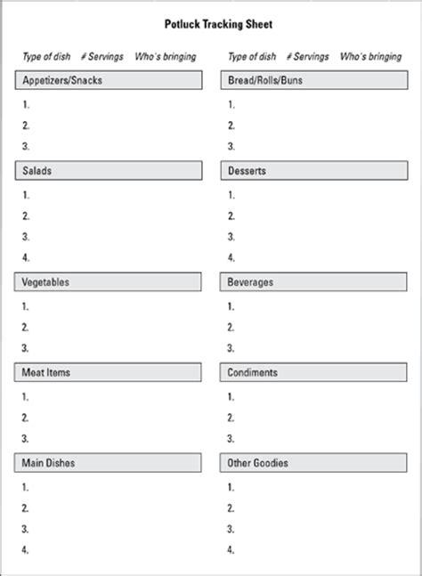 potluck food list template reunion potluck food sign up sheet food