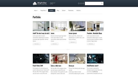 enfold theme one page brightbox themeforest business