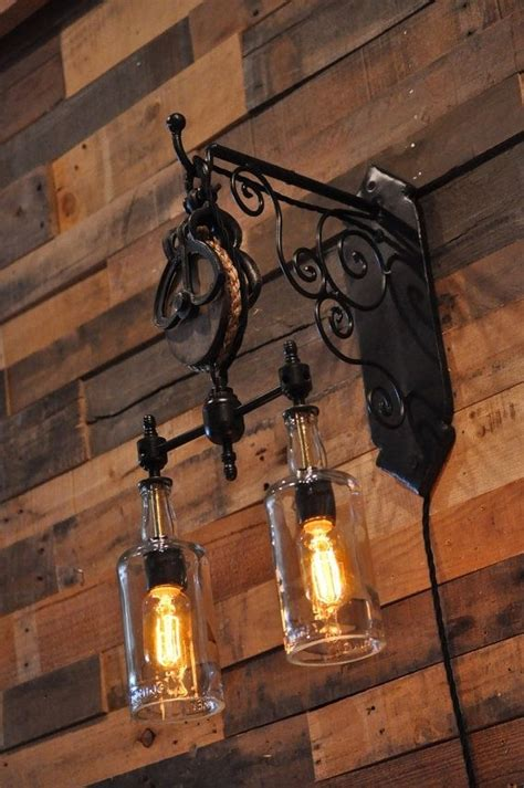 Make Your Own Chandelier Kit Hand Crafted Recycled Wine Bottle Liquor Bottle Hanging