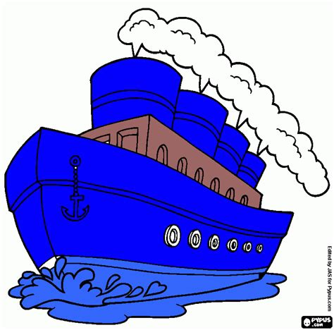 steamboat outline free coloring pages of of steamboat