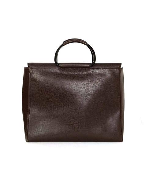 Bag Gucci Brown Kode 6138 gucci brown leather tote bag bhw at 1stdibs