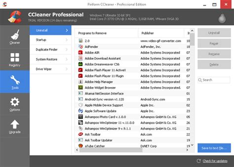 ccleaner que debo borrar ccleaner professional business technician 5 27 portable