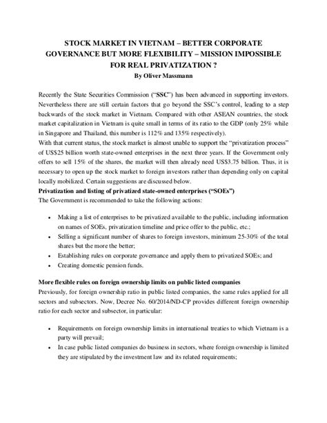 better corporate governance stock market in better corporate governance but