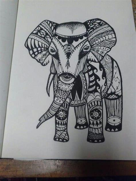 elephant ethnic tattoo tribal print elephant tattoo www imgkid com the image