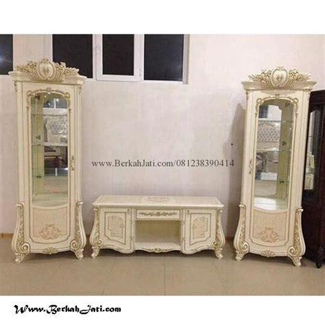 Buffet Laci Model Antik lemari bufet tv ukir jepara cat putih duco berkah jati furniture berkah jati furniture