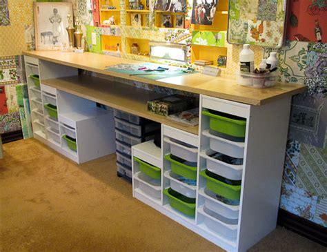 and craft desk with storage custom desks retro renovation craft storage ideas
