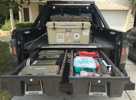 truck bed organizer diy get organized eco friendly drawers declutter your rig