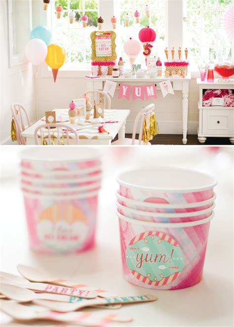 ice cream birthday party ideas ice cream shoppe birthday party theme for pottery barn