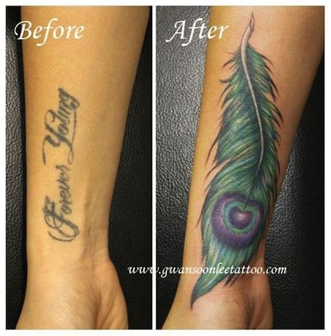 tattoo nightmares peacock feather cover up tattoos egodesigns tattoo ideas