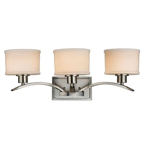 home depot bath bar lighting hton bay mayport collection 3 light brushed nickel bath