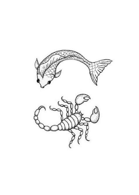 pisces and scorpio tattoo 12 best scorpio images on coloring