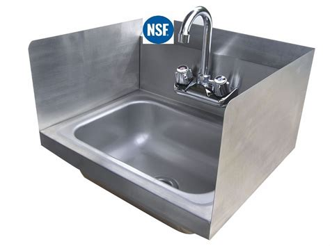 wall hung stainless steel sinks stainless steel wall hung sink with side splashes 12