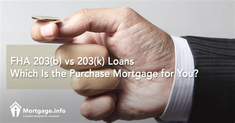 fha section 203 b fha 203 b vs 203 k loans which is the purchase mortgage