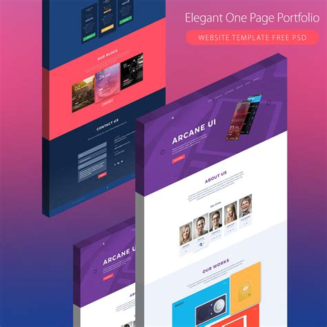 one page wordpress template free download